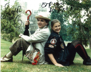 Sylvester McCoy and Sophie Aldred - Signed 10 x 8. This is an original autograph not a copy 10253